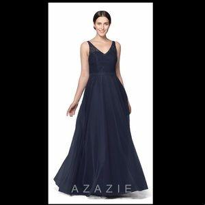 Azazie navy blue bridesmaid dress